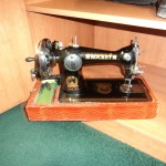 sewing machine in room at Rosta guest house