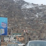 houses on the hills in Kabul